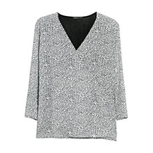Buy Mango Polka-Dot Blouse, Natural White Online at johnlewis.com
