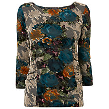 Buy Phase Eight Zita Flocked Top, Multi-coloured Online at johnlewis.com