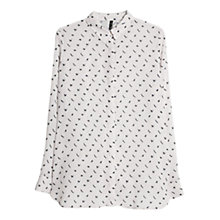 Buy Mango Animal Print Shirt, Natural White Online at johnlewis.com
