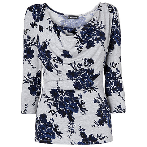 Buy Phase Eight Evie Print Top, Grey/Purple Online at johnlewis.com