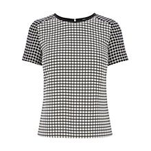 Buy Oasis Lottie Top, Multi Black Online at johnlewis.com