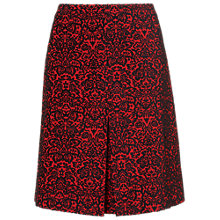 Buy Phase Eight Betty Jacquard Skirt, Red/Black Online at johnlewis.com