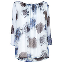 Buy Phase Eight Maya Rose Silk Blouse, Ivory/Blue Online at johnlewis.com