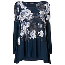 Buy Phase Eight Layla Long Sleeve Top, Navy Online at johnlewis.com