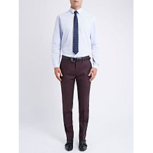Buy Ben Sherman Tailoring Slim Fit Plain Flannel Suit Trousers, Vintage Claret Online at johnlewis.com