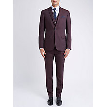 Buy Ben Sherman Tailoring Camden Fit Wool Flannel Jacket, Vintage Claret Online at johnlewis.com