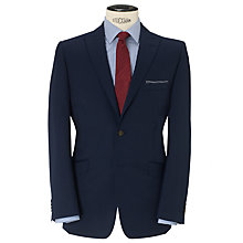Buy Daniel Hechter Plain Twill Tailored Suit Jacket, Indigo Online at johnlewis.com