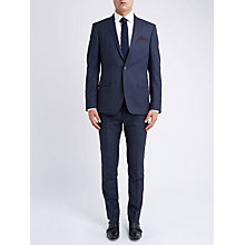 Buy Ben Sherman Tailoring Slim Fit Graphic Check Suit Jacket, Blue Online at johnlewis.com