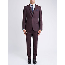 Buy Ben Sherman Tailoring Plain Flannel Waistcoat, Vintage Claret Online at johnlewis.com