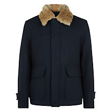 Buy Aquascutum Sedgeford Short Jacket, Navy Online at johnlewis.com