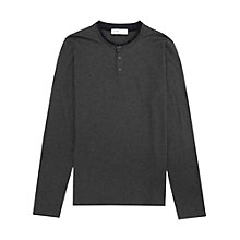 Buy Reiss Dreamer Long Sleeve Grandad Top, Grey Online at johnlewis.com