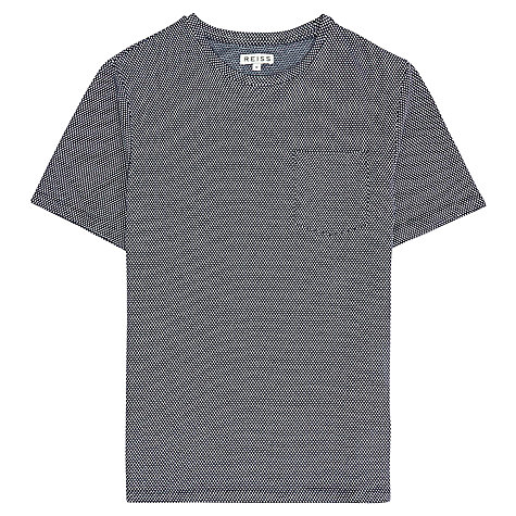Buy Reiss Dazzler Micro Check Print Short Sleeve T-Shirt Online at johnlewis.com