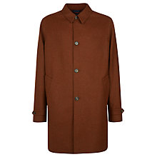 Buy Aquascutum Hitchcock Single Breasted Overcoat, Orange Online at johnlewis.com