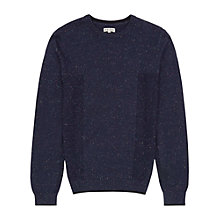 Buy Reiss Browning Multi Fleck Jumper, Navy Online at johnlewis.com