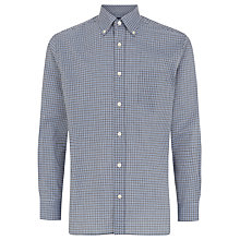 Buy Aquascutum Micro Check Long Sleeve Shirt, Navy Online at johnlewis.com