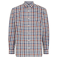 Buy Aquascutum Melange Check Shirt, Burgundy Online at johnlewis.com