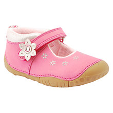 Buy Start-rite Genie Flower Applique Nubuck Shoes, Hot Pink Online at johnlewis.com