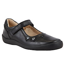 Buy Start-rite Heart Bryony Leather Shoes, Black Online at johnlewis.com
