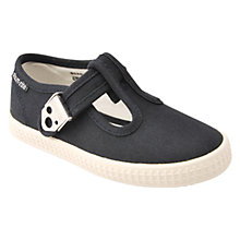 Buy Start-rite Wells T-Bar Canvas Shoes, Navy Online at johnlewis.com