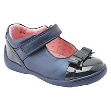 Buy Start-rite Super Soft Bow Shoes, Navy Online at johnlewis.com