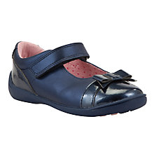 Buy Start-rite Luxuriously Soft Bow Pump Shoes, Navy Online at johnlewis.com