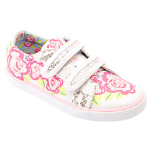 Buy Start-rite Rosebud Sparkle Canvas Trainers, White/Multi Online at johnlewis.com