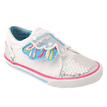 Buy Start-rite Butterfly Wings Canvas Shoes, Pink Sparkle Online at johnlewis.com