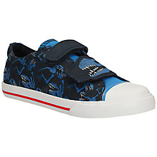 Buy Clarks Children's Tricer Roar Canvas Trainers, Navy Online at johnlewis.com