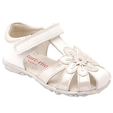 Buy Start-rite Primrose Leather Sandals, White/Silver Online at johnlewis.com