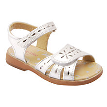 Buy Start-rite Honeysuckle Leather Sandals, Silver Online at johnlewis.com