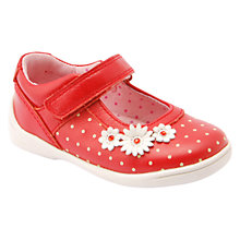 Buy Start-rite Daisy Super Soft Leather Shoes, Red Online at johnlewis.com