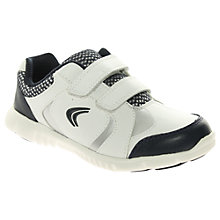 Buy Clarks Free Club Childrens' Trainers, White/Navy Online at johnlewis.com