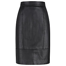 Buy Havren Leather Skirt, Black Online at johnlewis.com
