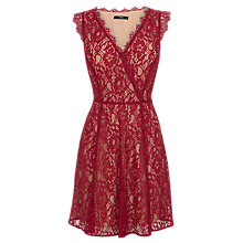 Buy Oasis Lace Wrap Skater Dress Online at johnlewis.com