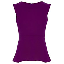 Buy Oasis Peplum Top, Bright Pink Online at johnlewis.com