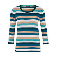 Buy Viyella Stripe Merino Jumper, Camel Online at johnlewis.com