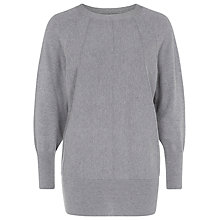 Buy Kaliko Ribbed Slouchy Jumper, Charcoal Online at johnlewis.com