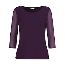 Buy Kaliko Chiffon Ruched Top, Dark Purple Online at johnlewis.com