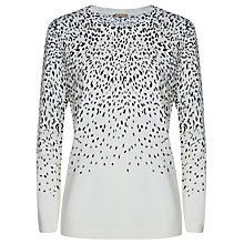 Buy Planet Leopard Print Sweater, Ivory Online at johnlewis.com