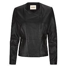 Buy Havren Leather Jacket, Black Online at johnlewis.com