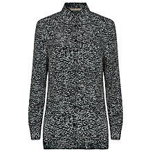 Buy Planet Speckle Print Blouse, Black/Ivory Online at johnlewis.com