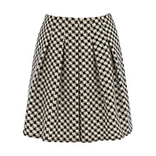 Buy Oasis Dogtooth Print Skirt, Black/White Online at johnlewis.com