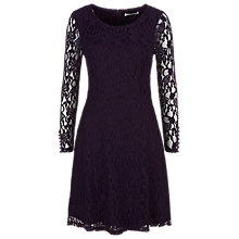 Buy Kaliko Lace Skater Dress, Blackcurrant Online at johnlewis.com