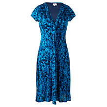 Buy Jigsaw Pebble Print Dress, Blue Online at johnlewis.com