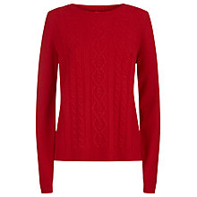 Buy Havren Cable Jumper, Crimson Online at johnlewis.com