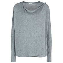 Buy Kaliko Draped Cardigan, Charcoal Online at johnlewis.com