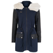 Buy French Connection Rhumba Escape Parka, Utility Blue/Black Online at johnlewis.com