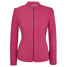 Buy Viyella Boiled Wool Jacket, Bubblegum Online at johnlewis.com