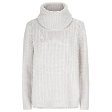 Buy Havren Roll Neck Stitch Jumper, Morning Mist Online at johnlewis.com
