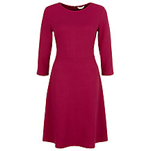 Buy Kaliko Waffle Skater Dress, Magenta Online at johnlewis.com